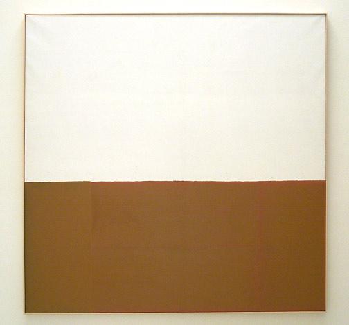 James Bishop / Untitled (Bank)  1974 195 x 195 cm oil on canvas