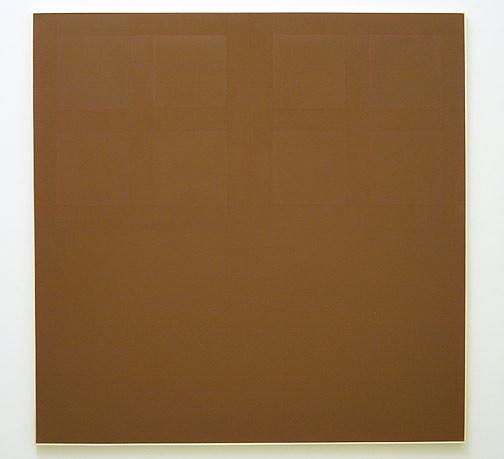 James Bishop / Untitled 1971 195 x 195,5 cm oil on canvas