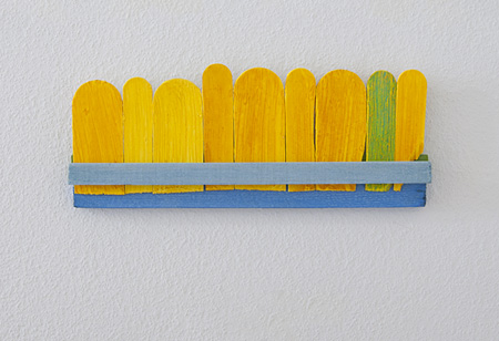 Joseph Egan / differences Nr. 4  2011  15 x 38 x 3 cm various paints on wood