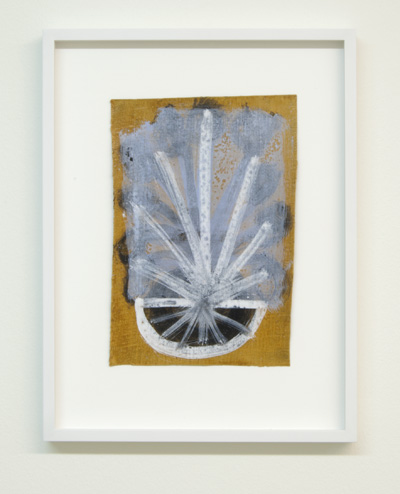 Joseph Egan / on Hydra Nr. 61  2010  25 x 17.5 cm framed: 38.5 x 29.5 x 2.5 cm various paints on canvas
