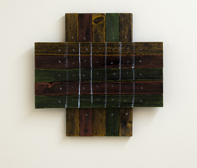 Joseph Egan / darkest hour  2010  36 x 37 x 4 cm various paints on wood