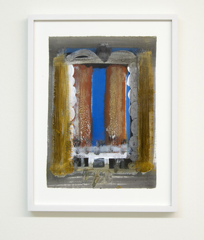 Joseph Egan / on Naxos Nr. 15  2010  30 x 21 cm framed: 38.5 x 29.5 x 2.5 cm various paints on paper