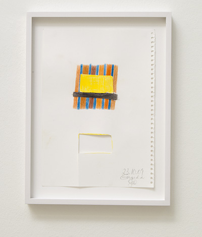 Joseph Egan / house and home Nr. 6  2009  29.7 x 21 cm framed: 36 x 27 x 2.5 cm colored pencil and collage on paper