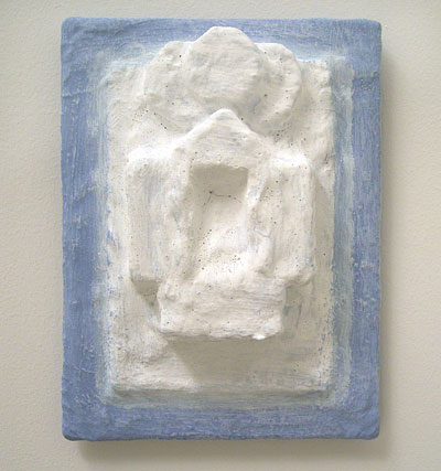 Joseph Egan / many have lived  2007  24.5 x 18.5 x 6 cm paints, sand and wood on canvasboard