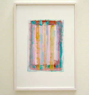 Joseph Egan /  Colori #3  2007  35 x 25 x 2 cm various paints on paper with framing
