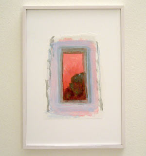 Joseph Egan / Colori #8  2007  35 x 25 x 2 cm various paints on paper with framing