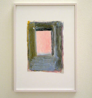 Joseph Egan / Colori #6  2007  35 x 25 x 2 cm various paints on paper with framing