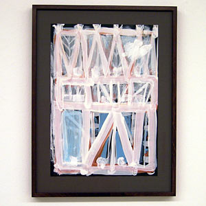 Joseph Egan / Dovecote #3  2007  37 x 28 x 2.5 cm various paints on paper with framing