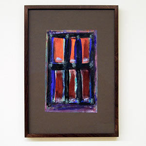 Joseph Egan / wine with friends #2  2007  31 x 22 x 2.5 cm various paints on paper with framing