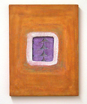 Joseph Egan / things to do  2003 / 2007  40 x 30 x 2.5 cm paints, sand and wood on canvas