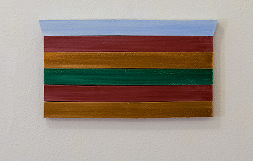 Joseph Egan / all on board2015 22 x 39.5 x 2.5 cmoil paints on wood