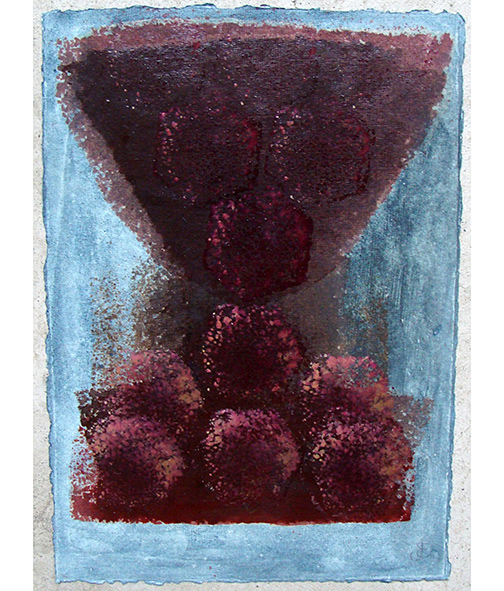 Joseph Egan / in wine (Nr. 4)  2013  30 x 21 cm oil paint on paper