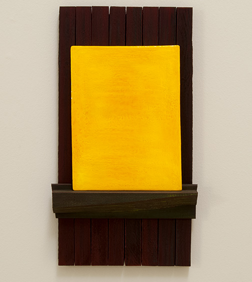 Joseph Egan / Trio  2017  60 x 33 x 6.5 cm painted wood and painted panel