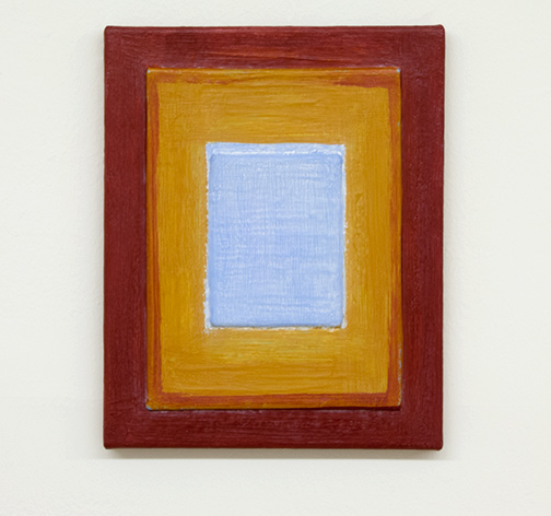 Joseph Egan / Turn  2017  30 x 24 x 2 cm various paints, sand and wood on canvas