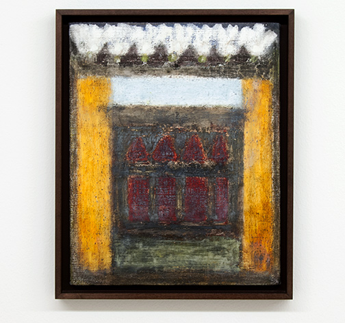 Joseph Egan / Dovecote  2014  38.5 x 31.5 x 3 cm various paints on canvas with framing