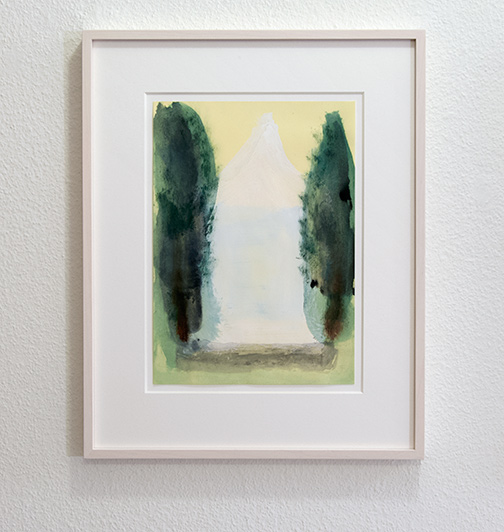Joseph Egan / on Hydra (Nr. 31)  2014 45 x 36 x 2.5 cm Paper: 30 x 21 cm Oil paints on paper with framing