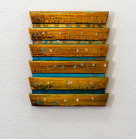 Joseph Egan / House of Bees  2014  29 x 24 x 2.5 cm Oil paints on wood