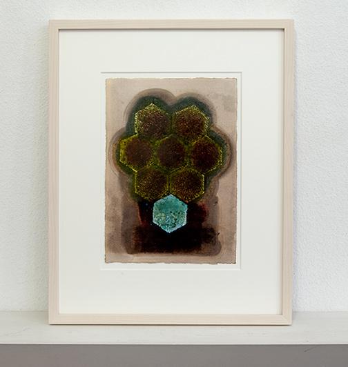 Joseph Egan / passion (after Rouault)  2014  48.5 x 39 x 3 cm Paper: 30 x 21 Oil paints on paper with framing