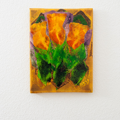 Joseph Egan / colorcomb (Nr. 84)  2014  24 x 18 x 2 cm Oil paints on canvas
