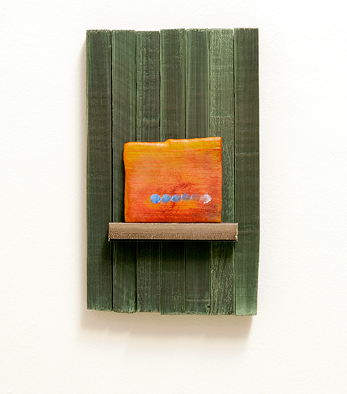Joseph Egan / moments  2014  37.5 x 23 x 5 cm Various paints and sand on wood