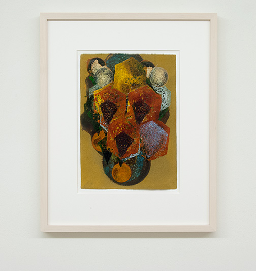 Joseph Egan / colorcomb (Nr. 47)  2014  49 x 39 x 3 cm Paper: 30 x 21 cm Oil paints on paper with framing