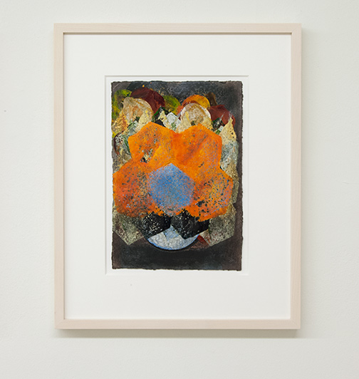Joseph Egan / colorcomb (Nr. 45)  2014  49 x 39 x 3 cm Paper: 30 x 21 cm Oil paints on paper with framing