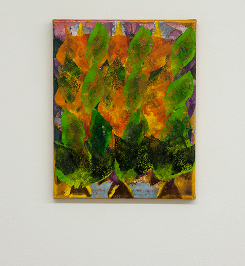 Joseph Egan / colorcomb (Nr. 81)  2014  30 x 24 x 2 cm Oil paints on canvas