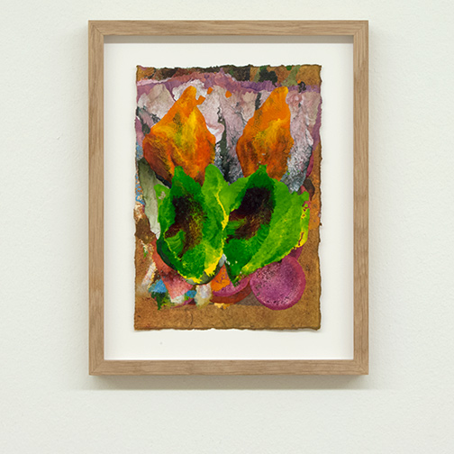 Joseph Egan / colorcomb (Nr. 60)  2014  28.5 x 22.5 x 2.5 cm Paper: 21 x 14.5 cm Oil paints on paper with framing