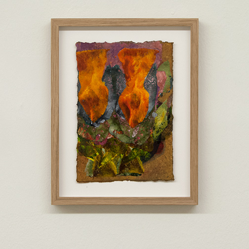 Joseph Egan / colorcomb (Nr. 62)  2014  28.5 x 22.5 x 2.5 cm Paper: 21 x 14.5 cm Oil paints on paper with framing