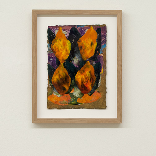 Joseph Egan / colorcomb (Nr. 63)  2014  28.5 x 22.5 x 2.5 cm Paper: 21 x 14.5 cm Oil paints on paper with framing