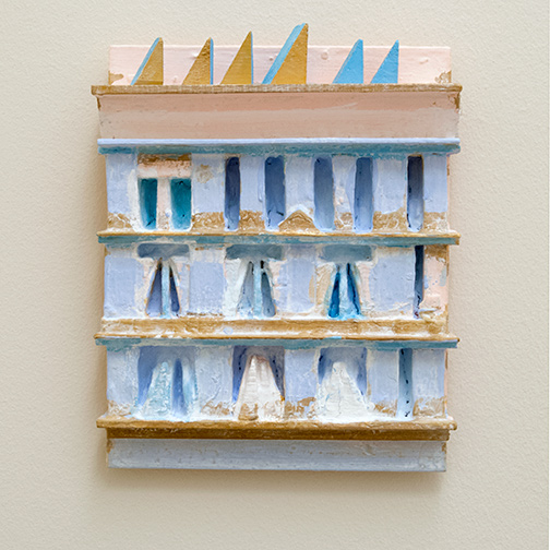 Joseph Egan / paintcote (Nr. 2)  2014  30 x 25 x 6 cm Various paints on wood with free elements