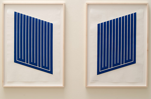 Donald Judd / Donald Judd  Untitled  1961-1963 77.2 x 55.5 cm woodcut in cerulean blue on cartridge paper Ex. 5/12 Untitled  1961-1963 77.2 x 55.5 cm woodcut in cerulean blue on cartridge paper