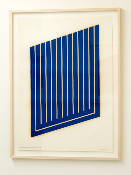 Donald Judd / Donald Judd Untitled (6-L)  1961-69 woodcut in cerulean blue on cartridge paper 77.5 x 55.9 cm