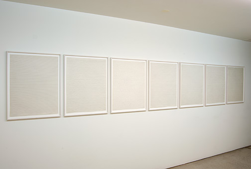 Sol LeWitt / Sol LeWitt Straight, not straight and broken lines in all horizontal combinations (three kinds of lines and all their combinations)  1973 Portfolio of 7 etchings Ex. 7/25 each 69 x 53.8 cm