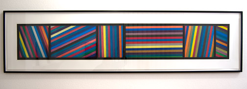 Sol LeWitt / Sol LeWitt Bands of Lines in Different Directions  1996 50.8 x 210.8 cm zweiteilige farbige Aquatinta Ed. 24/36