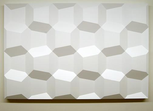 Andreas Christen / Andreas Christen Ohne Titel (7-37)  1975 120 x 180 cm Epoxy, weiss gespritzt