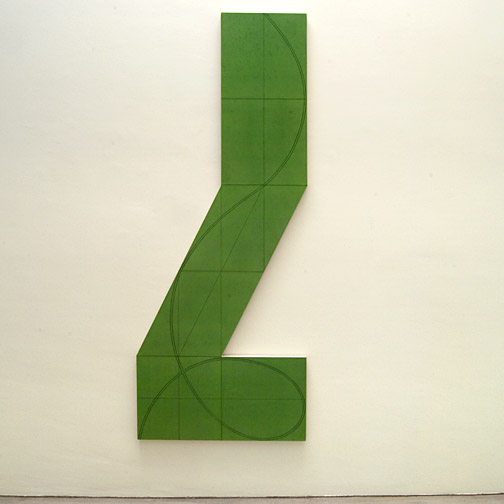 """Robert Mangold / Robert Mangold Column Structure XXIIIA  2008 228 x 91.5 cm / 36 x 90 """" Acryl und Bleistift auf Leinwand"""