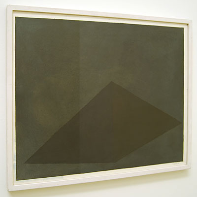 Sol LeWitt / Pyramid  1985 48.7 x 58 cm gouache on paper   Privat collection not for sale