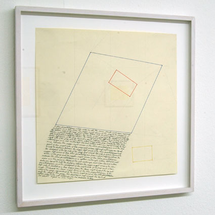 Sol LeWitt / Location Drawing  1976 pencil and color ink on paper 31.8 x 31.8 cm   Private collection not for sale