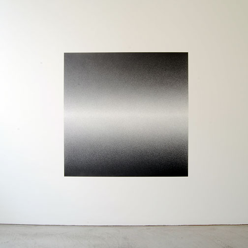 "Sol LeWitt / Scribble Wall Drawing #15  2007  graphite 152.4 x 152.4 cm / 60 x 60""   first drawn by: Nicolai Angelov   first installation: Annemarie Verna Galerie, Zürich 2009  Daylight from left side"