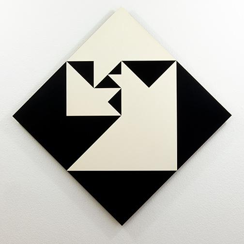 Andreas Christen / Andreas Christen Ohne Titel  1959 70 x 70 cm resin on masonite