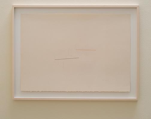 Fred Sandback / Fred Sandback Untitled  1982 65 x 90.6 cm pencil and pastel on paper