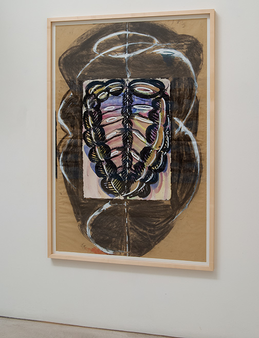 Mario Merz / Mario Merz Untitled  1986 148 x 98 cm pencil, gouache, charcoal and collage on paper