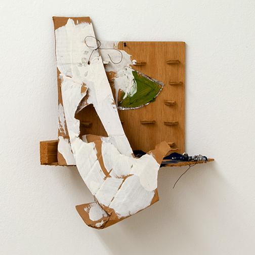 Richard Tuttle / Richard Tuttle Mists II   1985  40 x 33 x 13 cm various materials (wood, cardboard, foil, wire)