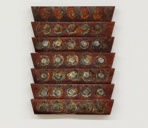 Joseph Egan / Joseph Egan cello  2018 25.5 x 19.5 x 2.5 cm oil paints and gold leaf on wood