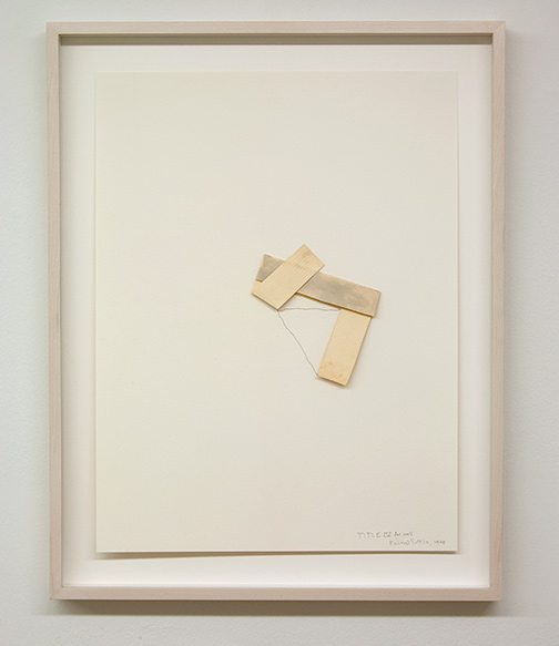 Richard Tuttle / Richard Tuttle Title IV for wall  1978 74.9 x 56.5 cm pencil and watercolor on paper collage