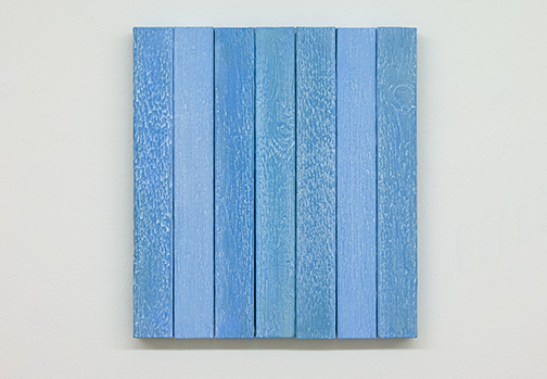 Joseph Egan / Joseph Egan boardwalk   2018 30 x 27.5 x 2.5 cm various paints on wood