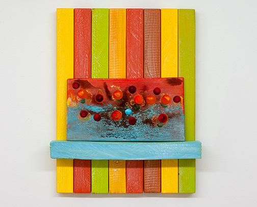 Joseph Egan / Joseph Egan Living Daylights   2018 47 x 37 x 6.5 cm painted wood and painted panel