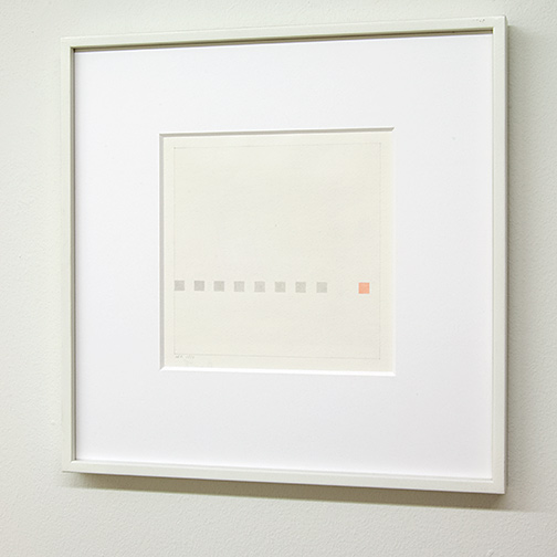 Antonio Calderara / Antonio Calderara Piccola storia di nove quadrati   1971  22 x 22 cm watercolor and pencil on paper