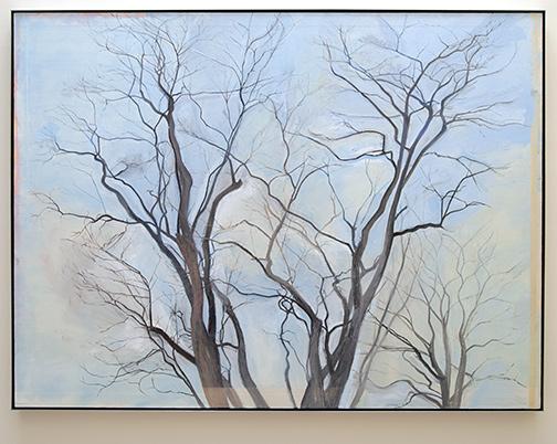 Sylvia Plimack-Mangold / Sylvia Plimack Mangold The Locust Trees   1988  152.4 x 203.2 cm  oil on linen